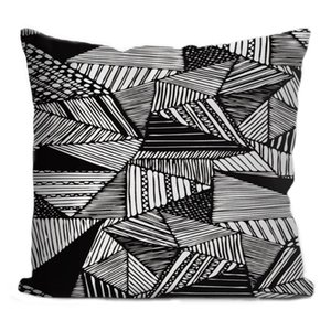 Custom Black White Abstract Square Pillowcase Custom Zippered Pillow Cover Case 35X35,40x40,45x45cm(One Side)200621 Pillow Case