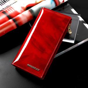 Genuine Leather Women Wallet Female Clutch Wallets Id Card Holder Long Lady Purse Coin Purses Women Money Bag