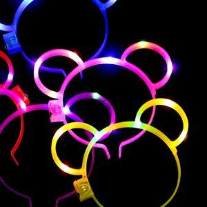 Kid piscando brilho urso LED Headband bonito urso Headbands Partido LED Rave materiais de apoio Concert cabeça