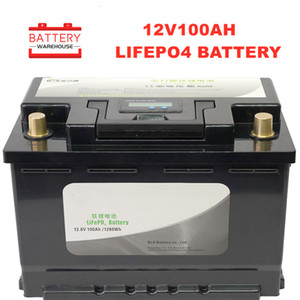 12v 100Ah Deep Cycle Lifepo4 Lithium Iron Phosphate battery pack BMS Built-in for Golf cart EV RV Solar energy storage