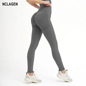 Femmes Yoga Pantalon élastique Fitness sans couture Sport Leggings taille haute Push Up Leggings Gym Squat Proof Workout Booty Scrunch Collants
