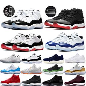 Mens 11 di pallacanestro scarpe 11s Jumpman Bred Concord 45 Space Jam cappello e abito vincere come Sneakers bassa leggenda blu donne allenatori sportivi