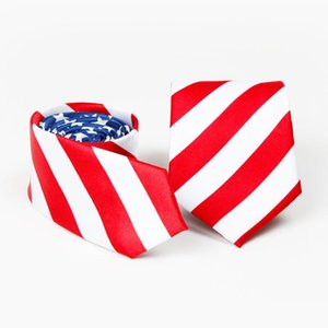 Independence Day Tie Printed Men's Star Spangled Tie Necktie American Flag Print Brand New Unisex Adults Woven Wedding Party