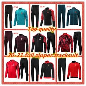 2020 2021 AC Milan взрослого костюма полного молния survetement куртки набор 100 лет 19 20 21 CALHANOGLU футбол куртки спортивной костюм