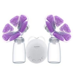 실제 Bubee 더블 전기 유방 펌프와 우유 병 편리한 USB PP BPA 무료 강력한 유방은 새로운 먹이 아기 유방 펌프