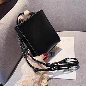 2019 NewWomen Handtaschen Leder-Korn-Webart Gürtel Schultertasche Female Fashion Umhängetasche Messenger Bags Mädchen-beiläufige Tote iGFj #