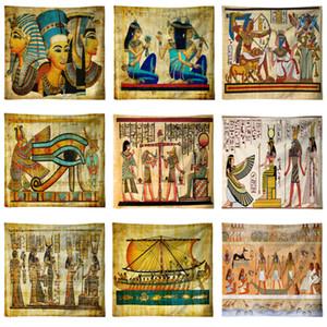 Antico Egitto Faraone Tapestry Famosa Paiting Wall Hanging Piramide Yoga Mat Telo Blanket egiziano partito decorativo