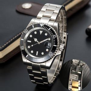 mens ceramiche meccanici automatico orologi 41 millimetri piena dell'acciaio inossidabile Scorrevole catenaccio nuotata orologi zaffiro luminoso guardare montre de luxe