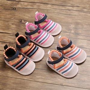 Summer Baby Girl Soft Crib Shoes Princess Canvas First Walker Thong Sandals