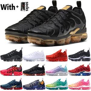 2020 avec des chaussettes Coussin Tn plus Hommes Femmes Chaussures de course Designer Rose Noir Or Mer Citron Vert Obsidian Sport Baskets Sneakers Taille 36-45
