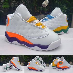 2020 New Kids Jumpman 13 GS Детской площадка обуви мальчиков девушка 1 баскетбол спортивной обувь Мальчики Девочка кроссовки 22-35