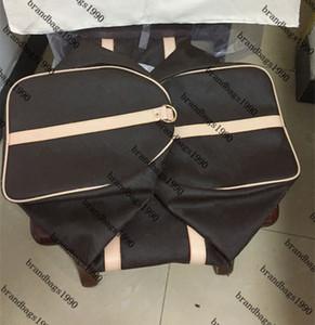 55cm 50cm 45cm de moda clássica bolsas Men saco de viagem em couro genuíno guarnição saco de bagagem mochila Com Tag transporte suave lona bolsa gratuito