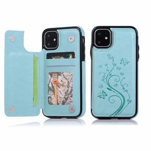 Женские чехлы для телефона для iPhone 12 11 Pro Max XR XS SE Задняя крышка для Samsung Galaxy S20 S20 S10 Plus Note20 Ультра кожаный карманный карманный кошелек