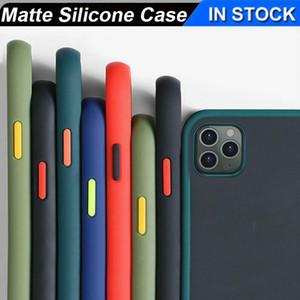 Transparente Haut Stoß- Fall-Abdeckung Klar Matte Hybrid PC TPU Telefon-Kasten für iPhone 11 Pro Max X XS Samsung A71 Huawei Y6 mit OPP Beutel