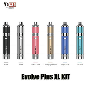 Authentic Yocan Evolve Plus XL Wax Dab Vape Pen Kit 1400mAh Battery With QUAD Coil Detachable Built-in Dual Compartment Silicone Jar