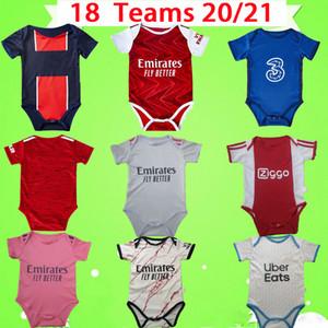 20/21 baby kit camiseta de fútbol Ajax Psg Real Madrid Manchester United Chelsea Arsenal Marseille conjuntos de traje para niños 2020 2021 camiseta de fútbol