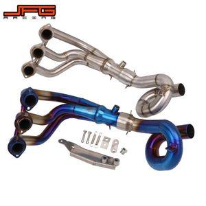 De escape de la motocicleta completa frente a mitad Sistema de escape Silenciador Enlace Pipe Slip-on para MT09 MT09 FZ09 FZ09 2014-2020