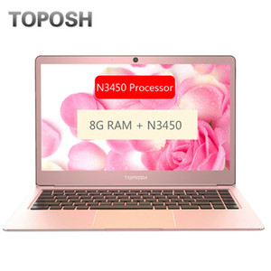 Fashion Rose Gold N3450 8G RAM SSD Notebook 14 Inch Mini PC Computer Portable Business Travel Office Laptop Slim Student Netbook