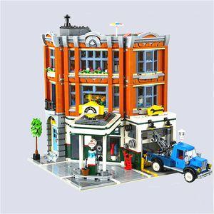 15042 Angolo Garage Brick City Street View 2876pcs regalo Creator Building Blocks Giocattolo dei bambini di Natale Compatibile 10264