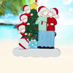 2020 بركاته هدية عيد الميلاد DIY اسم الراتنج المعلقات شجرة عيد الميلاد شنقا زخرفة رائعة ثلج الزي للأسرة شكل قناع
