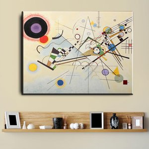 Wassily Kandinsky Oil Painting Classic Art Wall Poster And Sticker Print Waterproof Canvas Fabric Art Wall Decor Unframed