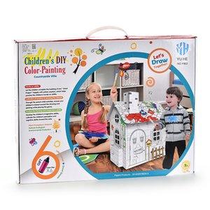 시골 별장 색깔의 펜 창조적 인 DIY 아기 계발 퍼즐 장난감 고품질 아이 장난감 무승부 선물