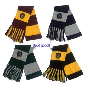 Harry Potter with tassel badge scarf cartoon cosplay costume scarf Halloween scarf second dimension