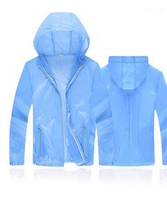Casual Skin Clothing Solid Color Loose Fashion Hooded Coats Womens Designer Clothing 2020 Summer Sunscreen Clothing