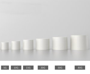 5G 10G 30G 50G 80G Matte Cosmetic Cream Jars Pot Small With Lid Empty Lotion Container High Quality White Packing Bottles