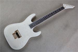 Fabbrica semilavorati kit chitarra elettrica, chitarra fai da te, Nuvole acero impiallacciatura, Bianco Binding, tastiera in palissandro, possono essere modificati