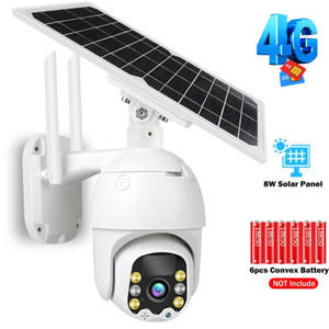 3G 4G IP Camera WiFi CCTV Camera Outdoor 1080P 8W Solar Panel Rechargeable Battery Powered PT Security 10m PIR Motion P2P