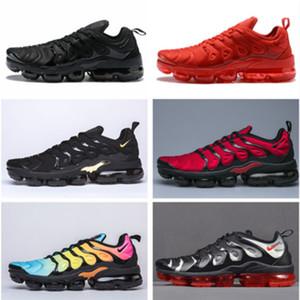 Famoso_footwear vmax tn plus betrue hombres mujeres clásico playa zapatillas triple negro blanco arco iris diseñador marca zapatillas deportivas casuales