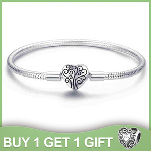 WOSTU Genuine 925 Sterling Silver Tree of Life Charm Bracelet & Bangle For Women Fit Original Brand DIY Beads Jewelry CQB066 C0927