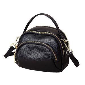 Women's bag 2020 new fashion multi-layer handbag three-layer soft leather shoulder messenger bag