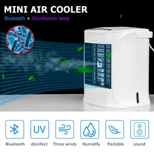 Portable Air Conditioner Cooler With Disinfection Lamp USB Multifunctional Air Cooler With Bluetooth Speaker For Home