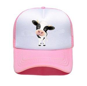 Summer Cartoon Cows Design Baseball Cap Men Snapback Trucker Hat Caps Women Hip Hop Hats Men's Snapback Hat