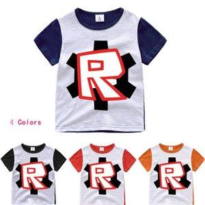 여름 패션 인기 키즈 ROBLOX 인쇄 t 셔츠 소년 만화 T 셔츠 3D 아기 어린이 O-목 의류 면화 캐주얼상의