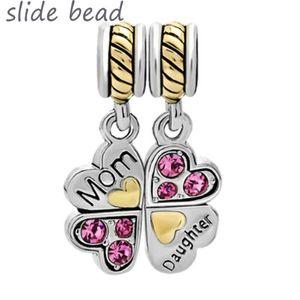 Fit charm bracelets Mother Daughter Charm Bracelets Heart Love Butterfly Bracelet beads for jewelry making