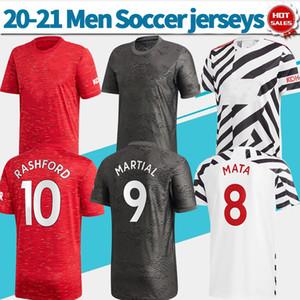 ManU-Shirt-roter Fußball Jersey # 34 VAN DE BEEK # 18 B.FERNANDES # 11 WALD 20/21 weg schwarzes 3.es Zebra Individuelles Fußballhemd