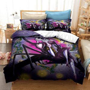 Conjunto Eve 3d Piezas de terror cómodo 3 animado de moda de ropa de cama bdesports Navidad rCkkX