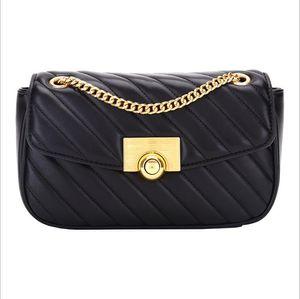Женская мода ромбические цепи сумки одного плеча мешок Кроссбоди небольшой площади вышитые нить женская сумка