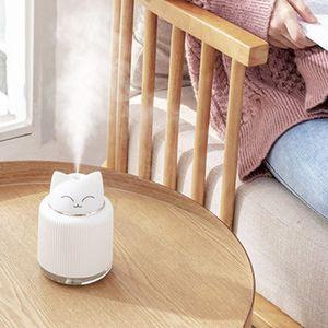 Cute Cartoon Cat Large Capacity Portable Desktop Air Humidifier USB Mist Maker Aroma Essential Oil Diffuser Home U1JE