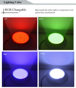 PAR 56 RGB LED Swimming Pool Underwater Light Lighting Lamp Resin Filled Piscina Wall Mounted Foco Pools Lamp 12V IP68 18W 42W Pond