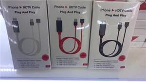 Plug Universal HDTV Plug and Play HD-Out HDTV TV Adaptador Digital AV Cabo 1080p Telefone para TV USB 2.0 para Tipo C Micro 5Pin Iluminação 1m