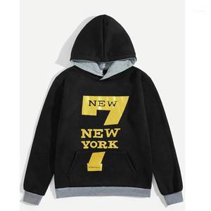 Clothes Gold Seven Print Mens Hoodies Designer New York 7 Print Homme Hoodies Fashion Autumn Casual