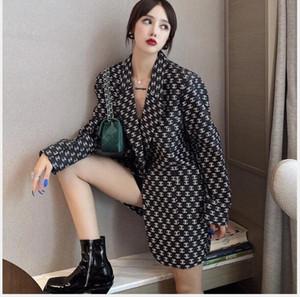 Web ünlü sonbahar / kış ücretsiz gönderim bluz Kore moda gevşek cılıbıt orta ve uzun tarzı 2020 kadın sonbahar baskısı