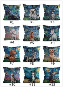 Dog linen creative pillow case home cushion covers cross-border customized pillow cases direct wholesale