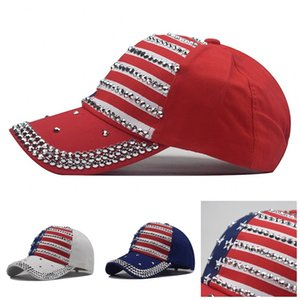 President Trump Hats Baseball Cap Fashion Mens Women Hat Embroidery Five-Pointed Star Printing USA National Flag 10 9nx F2