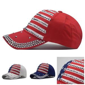 Presidente Trump Chapéus Boné Mens Fashion Women Hat bordado de Cinco Pontas Impressão Star EUA Bandeira Nacional 10 9NX F2