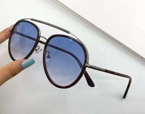 Men Pilot Sunglasses 0748 Havana Blue Fashion Glasses des lunettes de soleil Men Sunglasses Shades New with Box